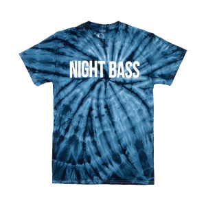 Night Bass Classic Tie Dye T-Shirt (Navy)