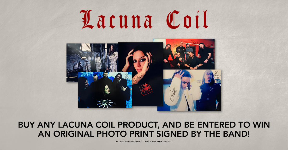 Lacuna Coil Autographed Print Giveaway  Enter now for your chance to win an autographed photo of the band!