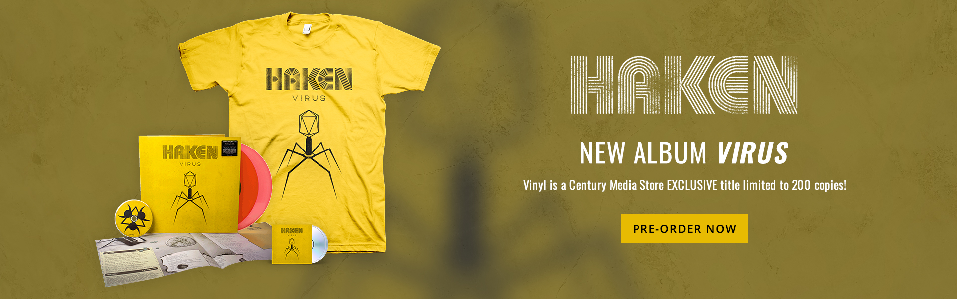 Haken | New album Virus. | Vinyl is a Century Media Store EXCLUSIVE title limited to 200 copies! | Pre-order Now.