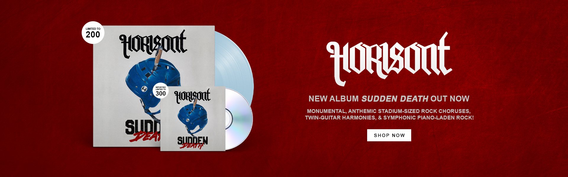 Horisont | New album Sudden Death out now. | Monumental, anthemic stadium-sized rock choruses, twin-guitar harmonies, and symphonic piano-laden rock! | Shop Now.