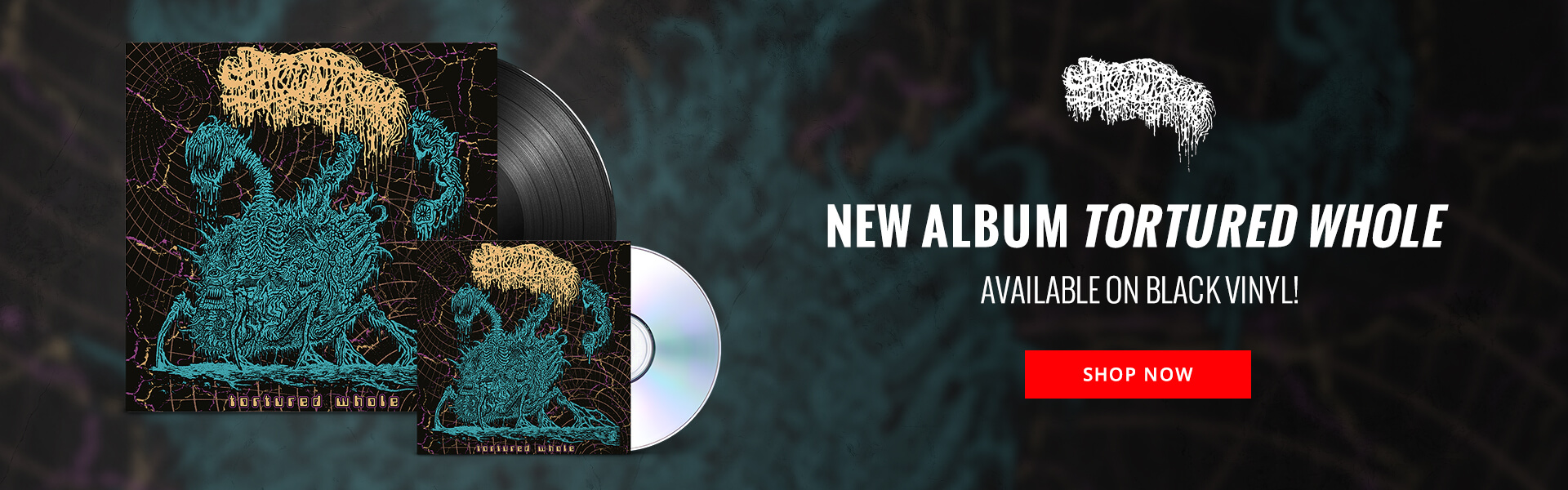 Sanguisugabogg's new album Tortured Whole available on black vinyl! Shop Now.