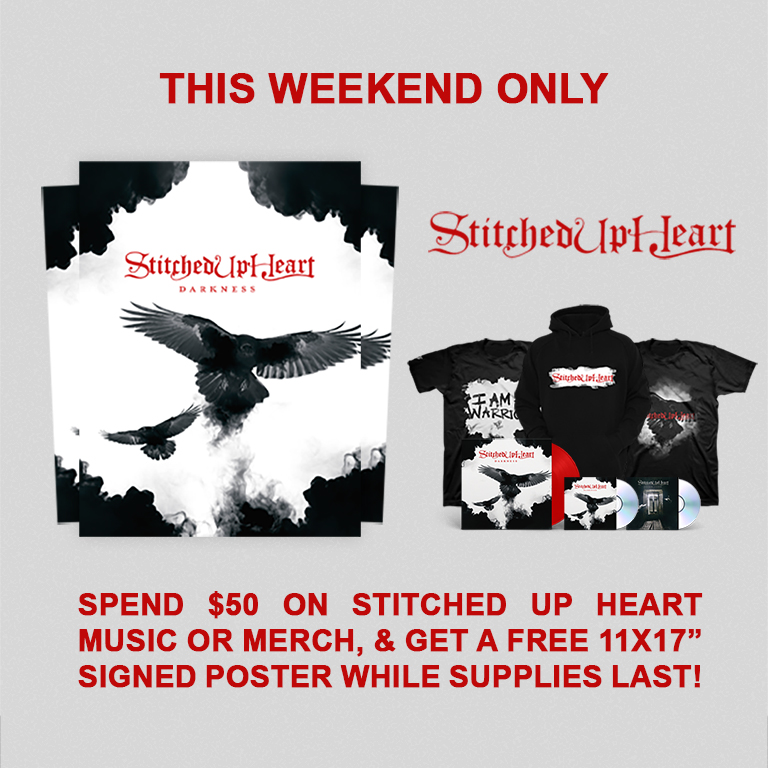 Weekend Only - Get A Free Poster On Stitched Up Heart $50+ Orders!