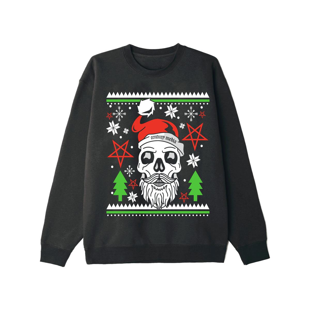 Skull Santa Black Holiday Sweatshirt