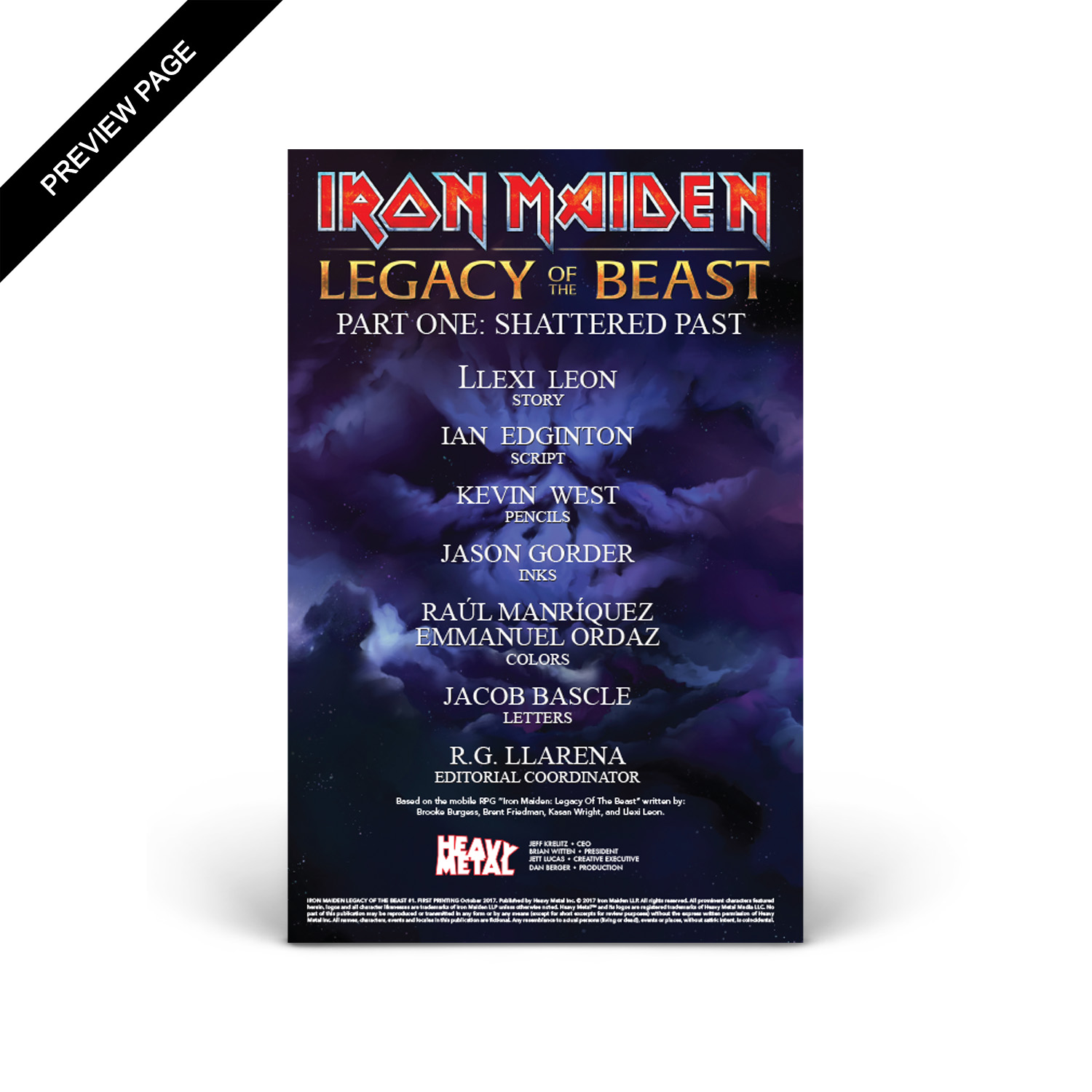 Iron Maiden - Legacy of the Beast - Volume 1 - Issue #1 - Cover A