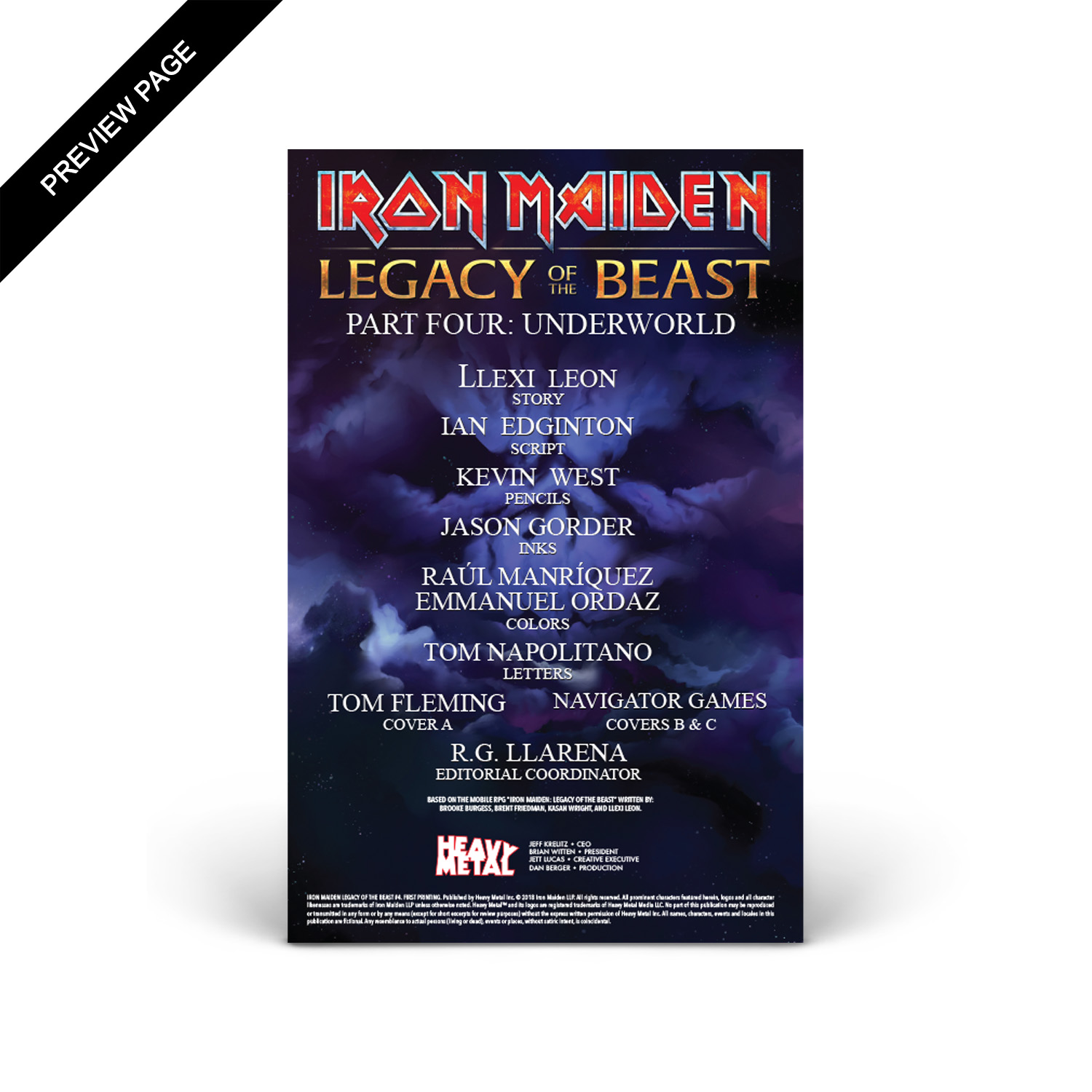 Iron Maiden - Legacy of the Beast - Volume 1 - Issue #4 - Cover C