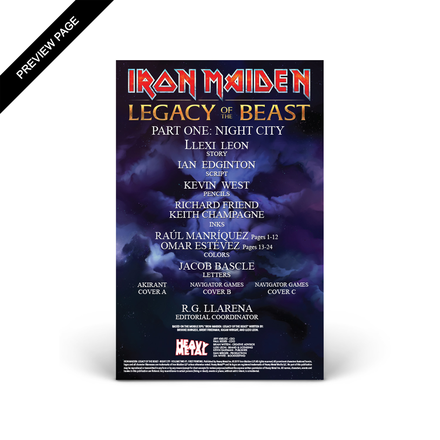 Iron Maiden - Legacy of the Beast - Volume 2 - Issue #1 - Cover C
