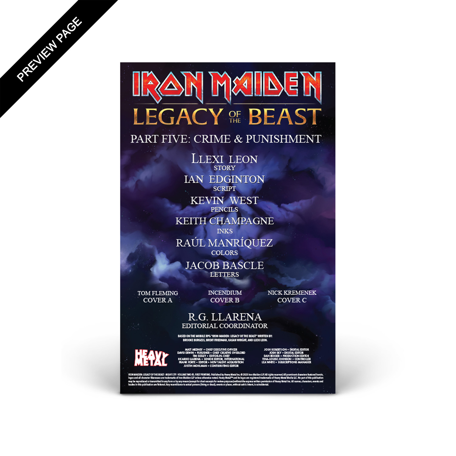 Iron Maiden - Legacy of the Beast - Volume 2 - Issue #5 - Cover C