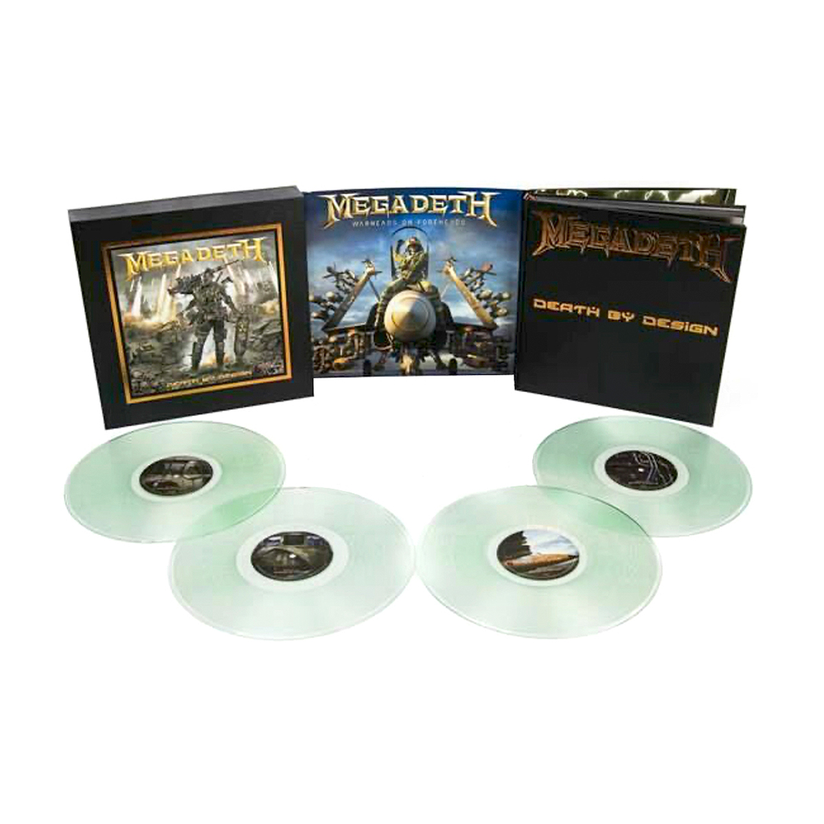 Megadeth - Warheads On Foreheads Clear 4LP + Death By Design Graphic Novel