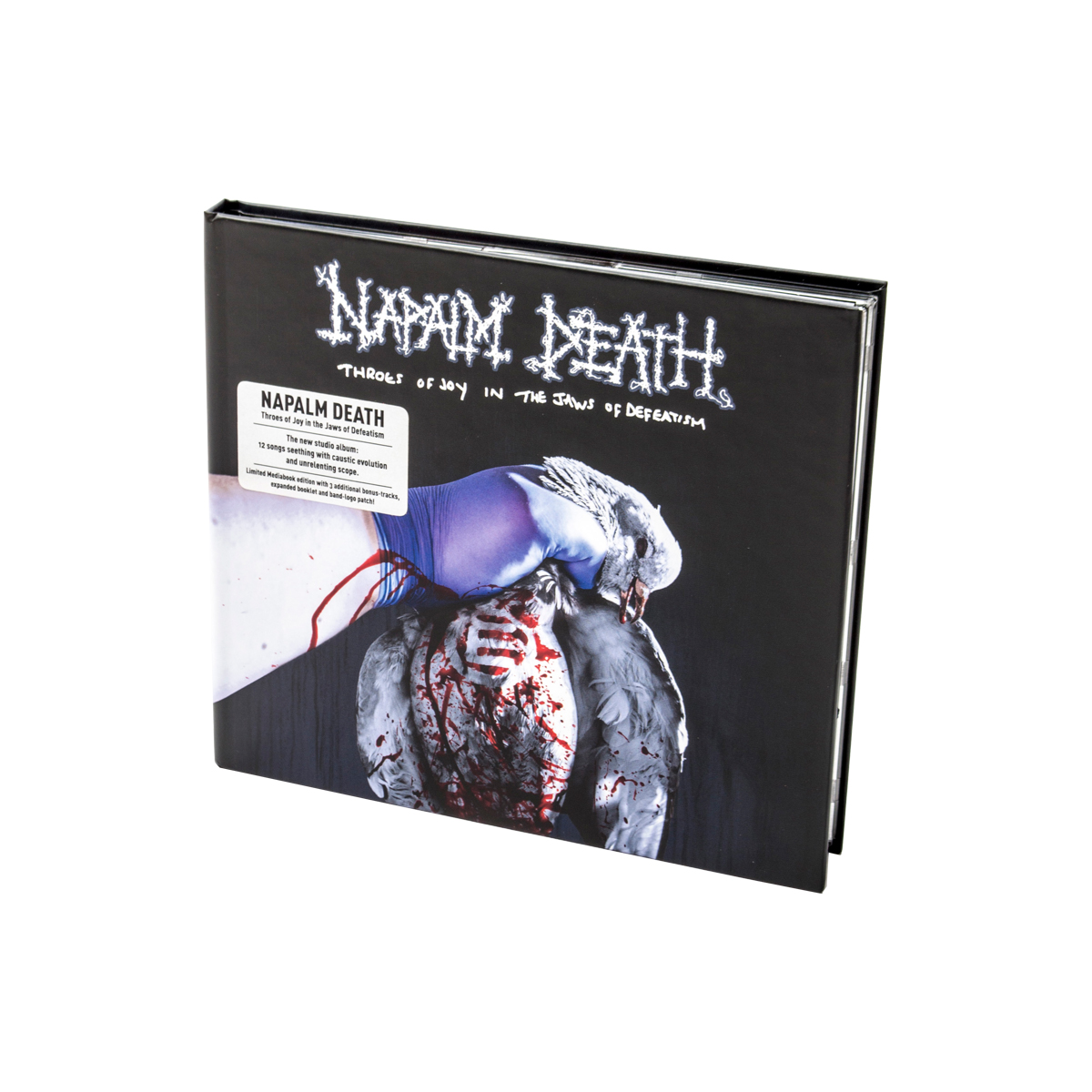 Napalm Death - Throes of Joy in the Jaws of Defeatism Ltd. CD Media Book + Patch + Digital Download