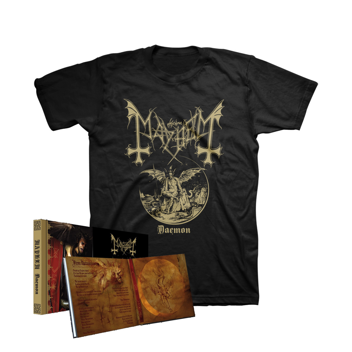 Mayhem - Daemon CD Mediabook with Slipcase + T-Shirt