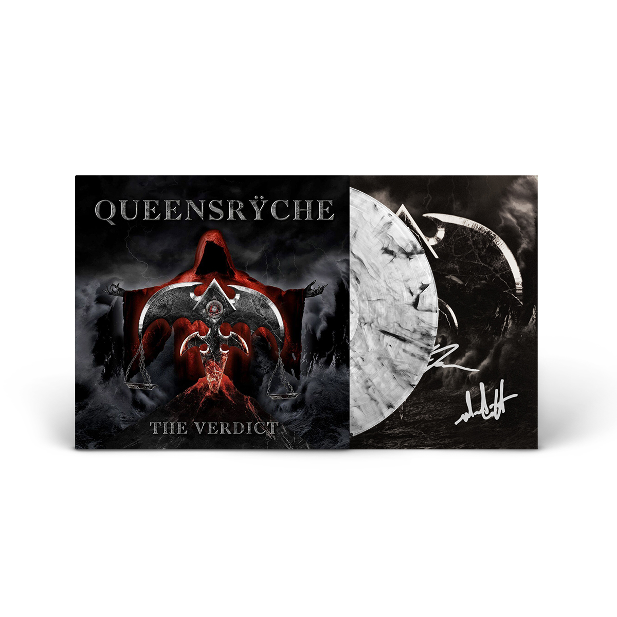 Queensryche - The Verdict Autographed Clear Smoke LP