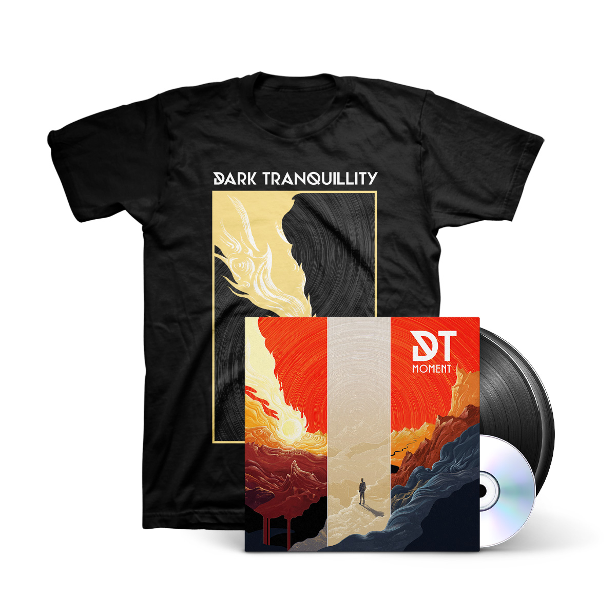 Dark Tranquillity - Moment Black Vinyl 2LP+CD + Black T-Shirt
