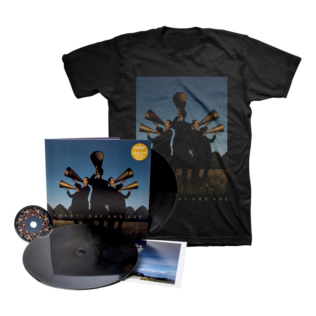 Frost* - Day And Age Black Vinyl 2LP + CD + Black T-Shirt + Digital Download