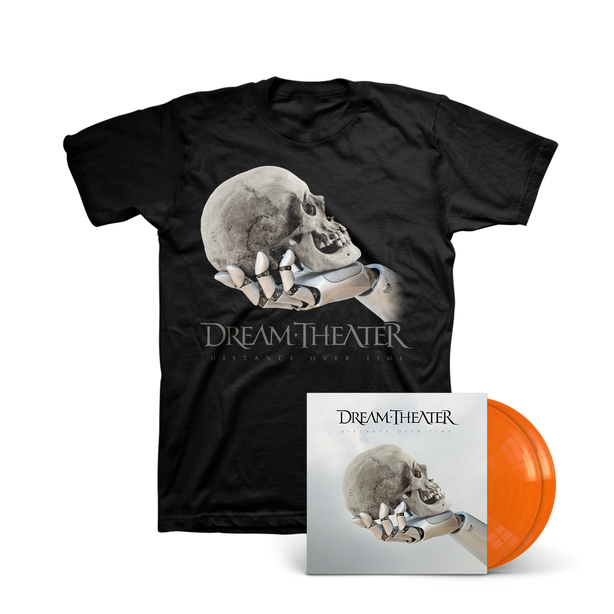 Dream Theater - Distance Over Time Translucent Orange 2LP + T-shirt
