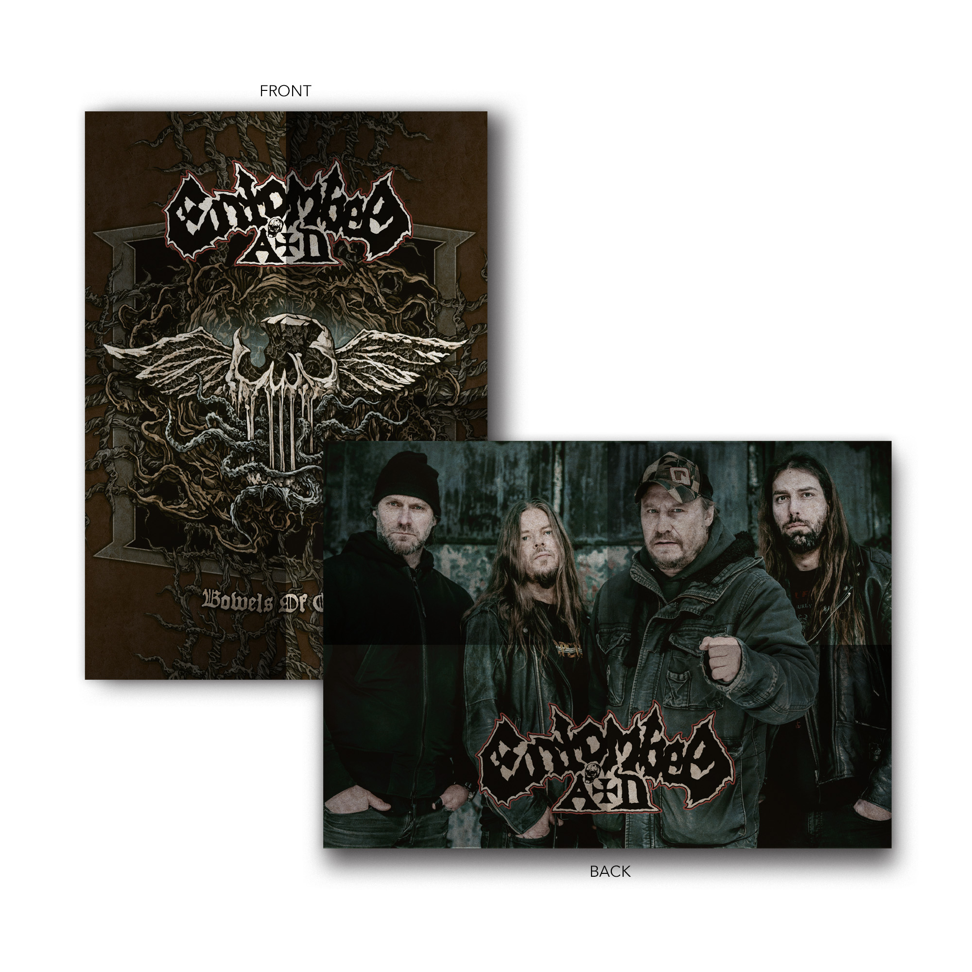 Entombed A.D. - Bowels of Earth Limited Edition CD + Clear LP + Fit For A King T-Shirt