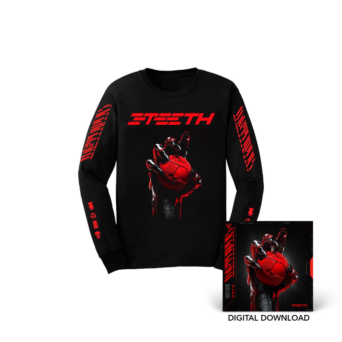 3TEETH METAWAR Longsleeve T-Shirt + Digital Download Bundle