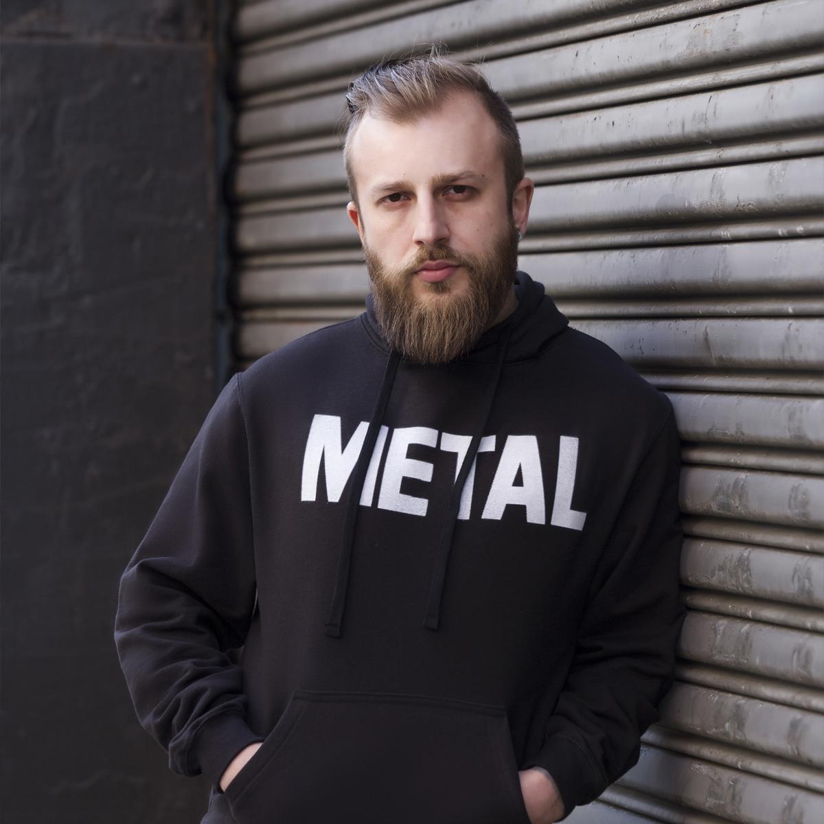 Metal Black Pull-Over Hoodie