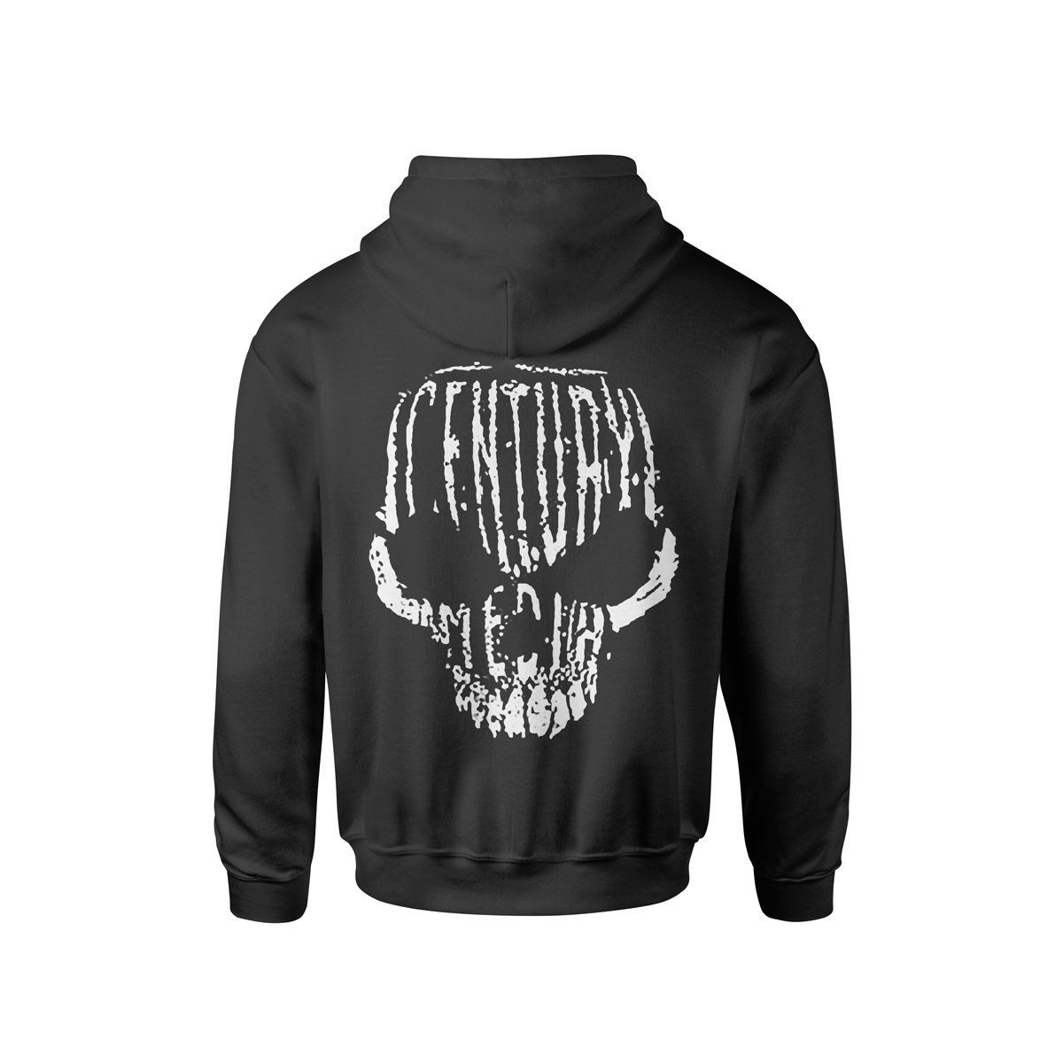 Century Media Skull - Black Pull-Over Hoodie