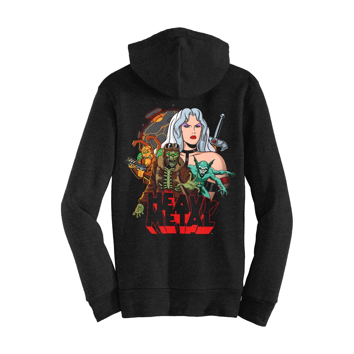 Heavy Metal 'Planet' Zip Up Hooded Sweatshirt