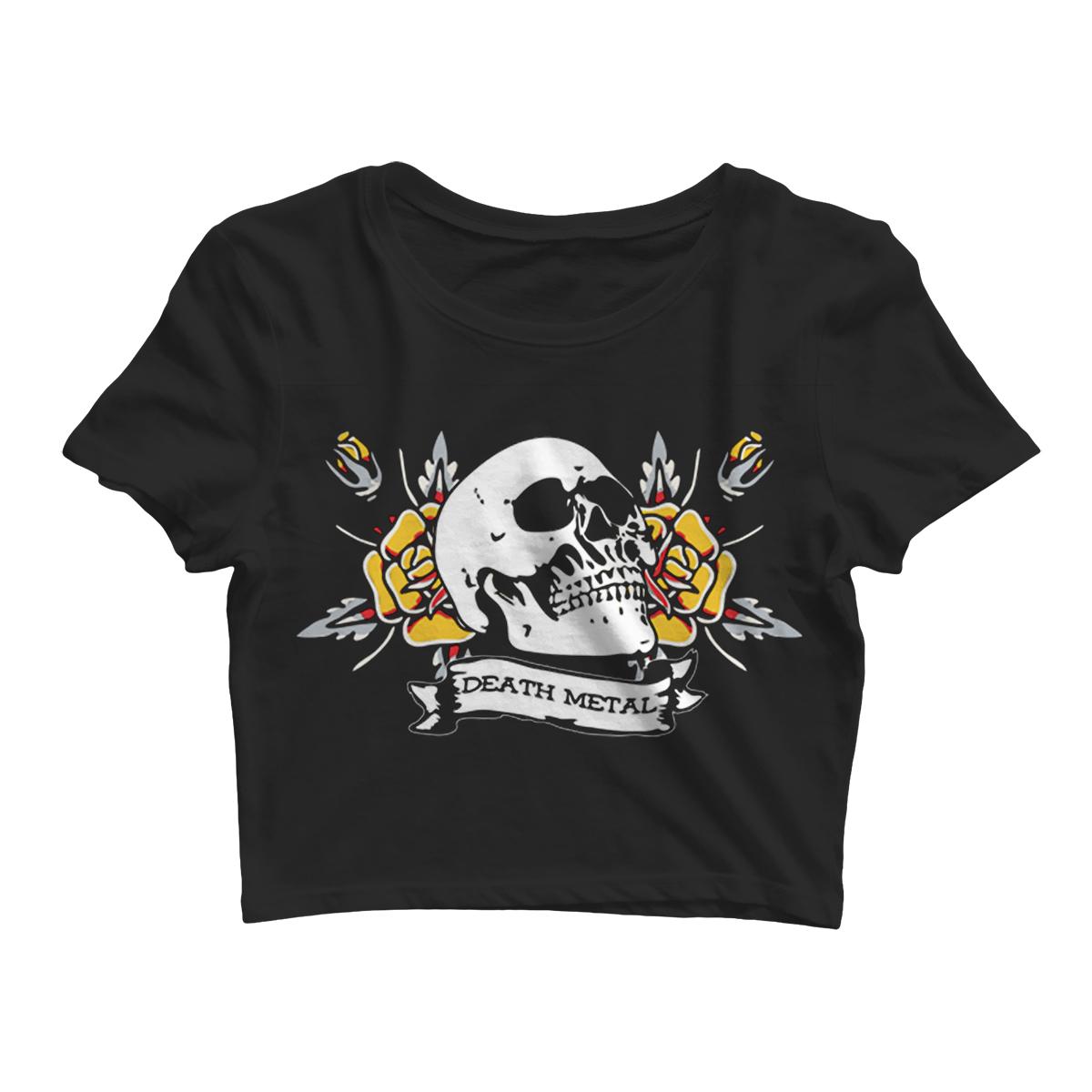 Death Metal - Black Crop Top