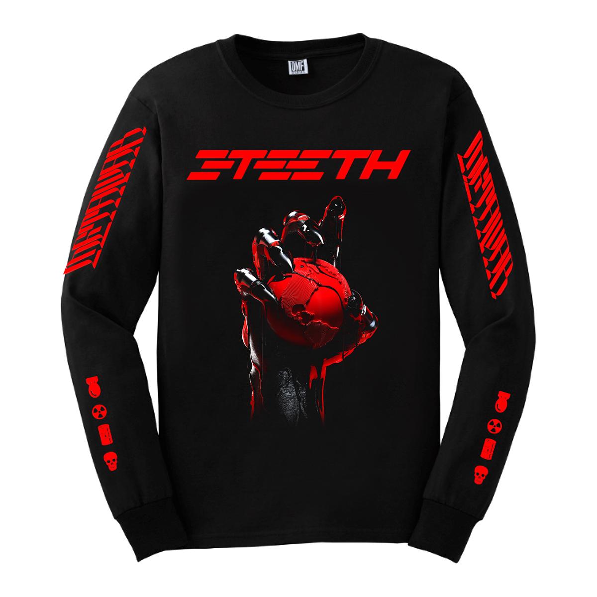 3TEETH - METAWAR Long Sleeve Black T-shirt