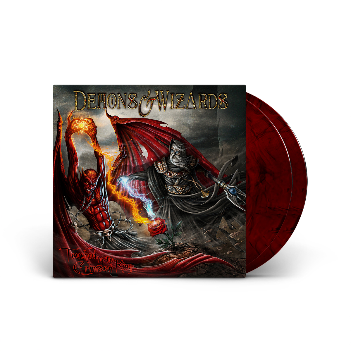 Demons & Wizards - Touched By The Crimson King (Remasters 2019) Red Smoke 2 LP