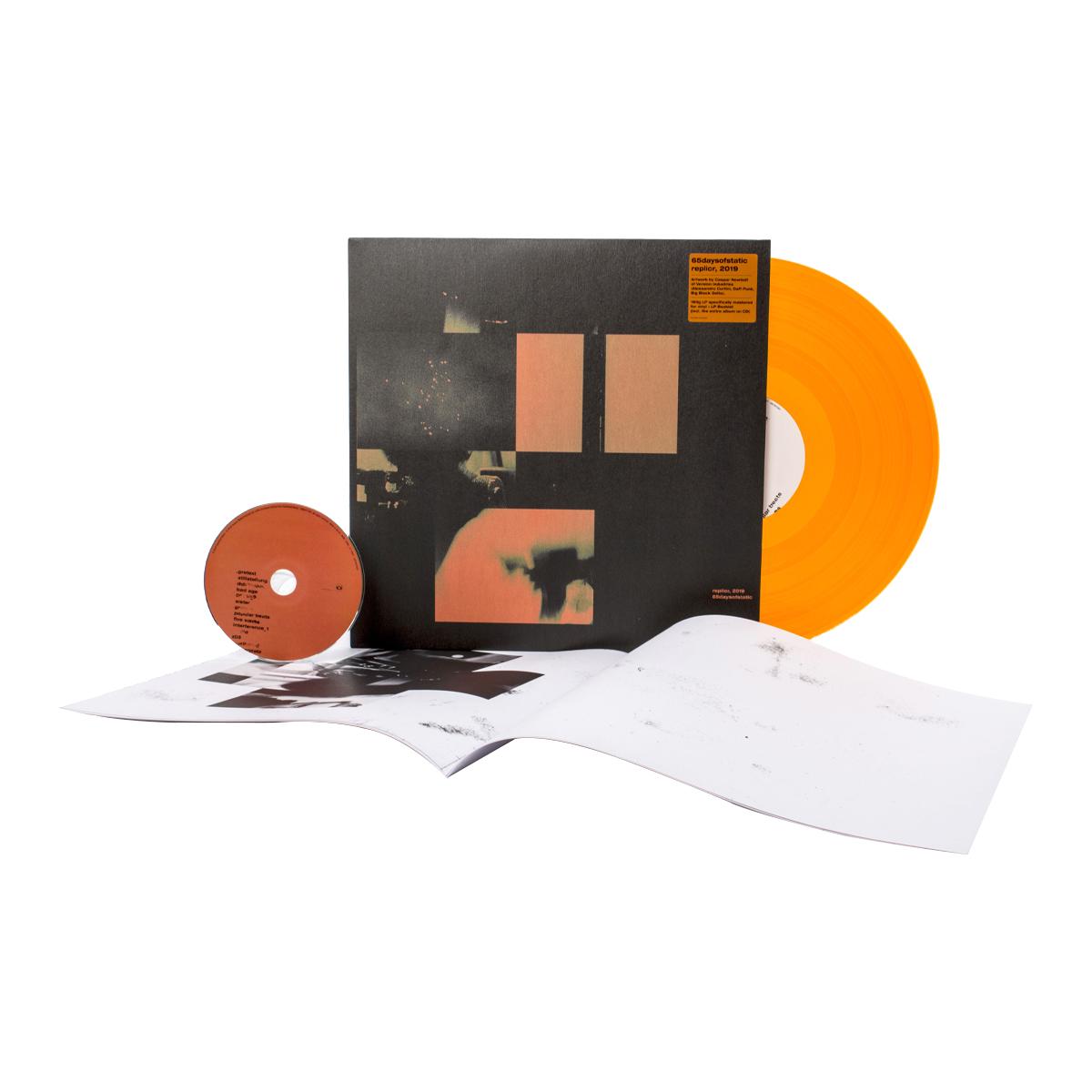 65daysofstatic - replicr, 2019 Transparent Orange Vinyl LP + CD
