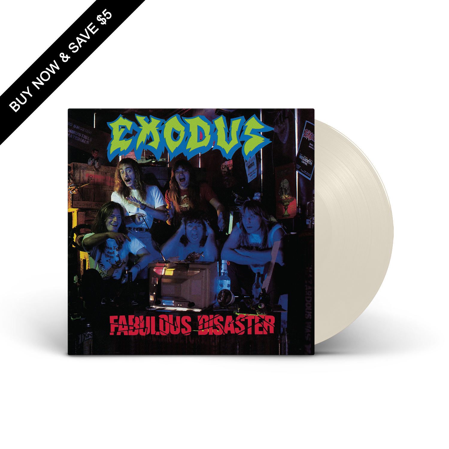 Exodus - Fabulous Disaster Opaque Bone LP