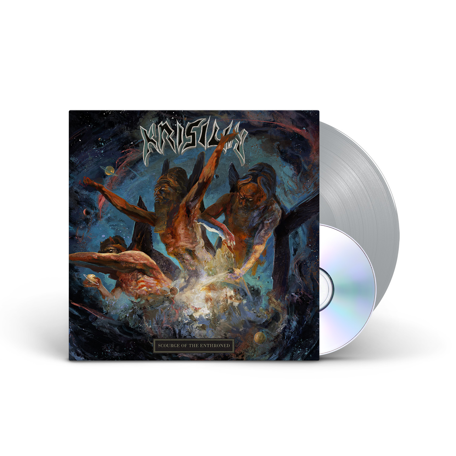 Krisiun: Scourge of the Enthroned 180g (Silver) LP + CD
