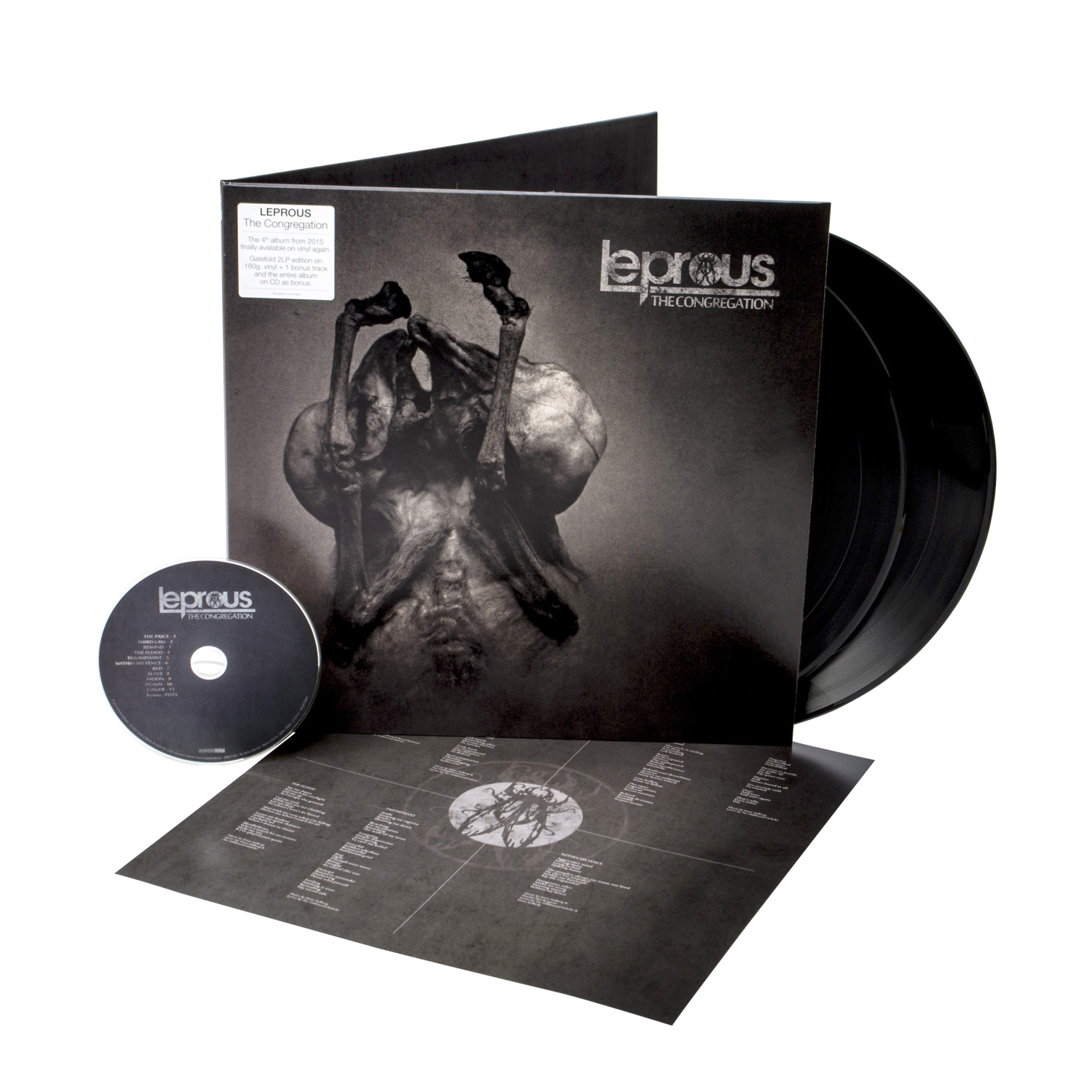 Leprous - The Congregation (Re-issue 2020) Black 2 LP + CD
