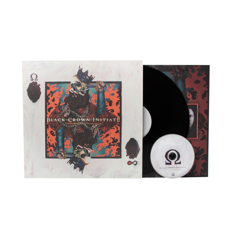 Black Crown Initiate - Violent Portraits of Doomed Escape Black LP + CD + Digital Download