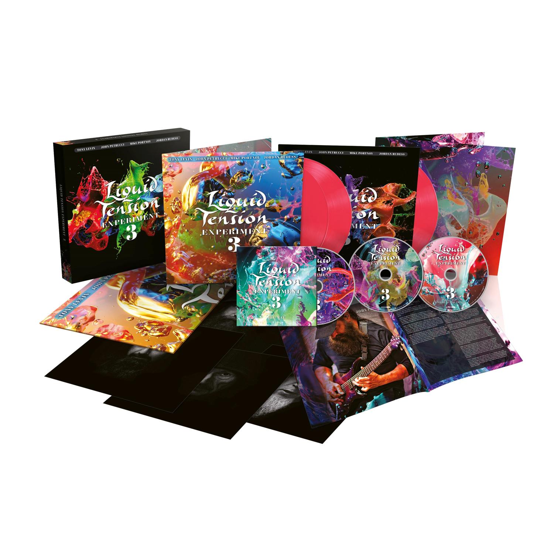 Liquid Tension Experiment - LTE3 Hot Pink Vinyl 3 LP + 2 CD + Blu-ray Box Set + Digital Download