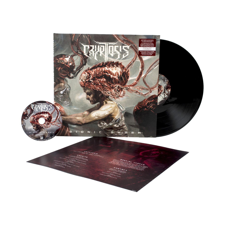 Cryptosis - Bionic Swarm Black Vinyl LP + CD + Digital Download