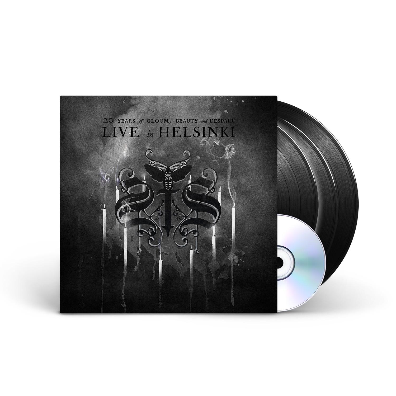 Swallow The Sun - 20 Years of Gloom, Beauty and Despair - Live in Helsinki Black 3LP + DVD + Digital Download
