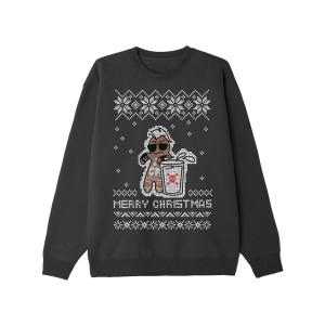 Hardcore Gingerbread Man Black Holiday Sweatshirt