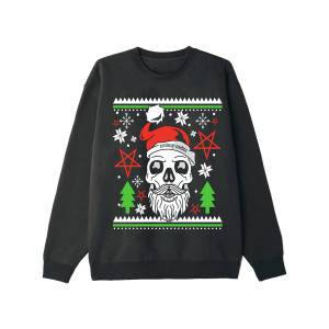 Skull Santa Black Holiday Sweatshirt