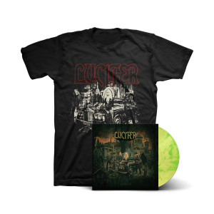 Lucifer III: T-Shirt + Yellow & Green Swirl Vinyl LP