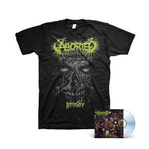 Aborted - Retrogore CD + Black T-Shirt