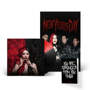 NEW YEARS DAY - UNBREAKABLE RED & BLACK LP + AUTOGRAPHED POSTER INSERT
