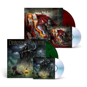 Demons and Wizards - Demons & Wizards (Remasters 2019) 6 - Panel Digipak + Smoke Green 2 LP + Demons & Wizards - Touched By The Crimson King (Remasters 2019) 6 - Panel Digipack + Red Smoke 2 LP
