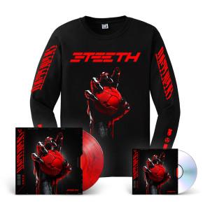 3TEETH - METAWAR Red Smoke Vinyl LP + CD + Long Sleeve T-shirt