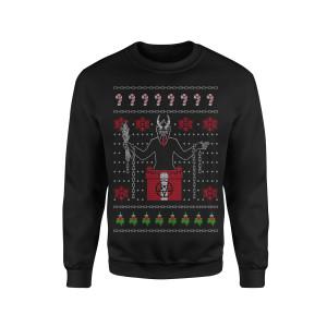 Demon Santa - Black Crewneck Sweatshirt