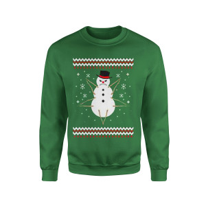 Demon Snowman - Green Crewneck Sweatshirt