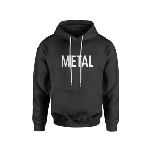 Metal Black Pull-Over Hoodie