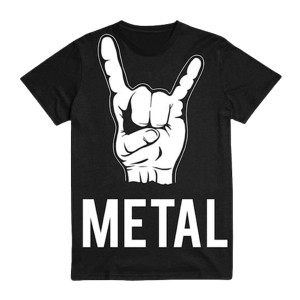 (Horns) Metal - Black T-Shirt
