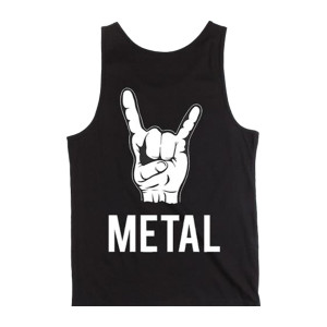 (Horns) Metal - Black Tank Top