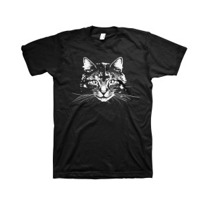 Demonic Cat - Black T-Shirt