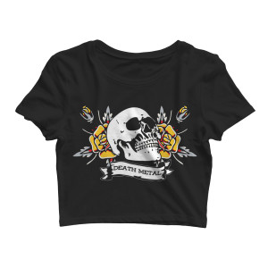 Death Metal - Black Crop Top