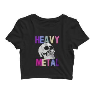 Heavy Metal - Black Crop Top