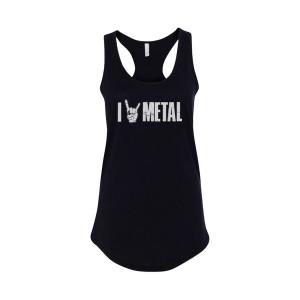 Ladies I (Horns) Metal - Black Tank Top